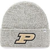 '47 Men's Purdue Boilermakers Heathered Grey Brain Freeze Cuffed Knit