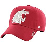 '47 Women's Washington State Cougars Crimson Sparkle Clean-Up Adjustable Hat