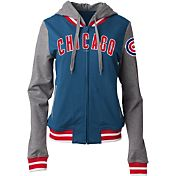 5th & Ocean Women's Chicago Cubs Royal/Grey Full-Zip Hoodie