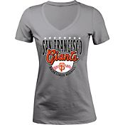 5th & Ocean Women's San Francisco Giants Grey V-Neck T-Shirt