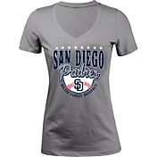 5th & Ocean Women's San Diego Padres Grey V-Neck T-Shirt