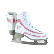 American Athletic Shoe Girls' Soft Boot Pink Trim Figure Skates