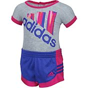 adidas Infant Girls' Performance Bodysuit and Shorts Set