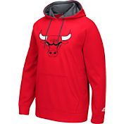 adidas Men's Chicago Bulls climawarm Playbook Red Hoodie
