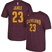 adidas Men's Cleveland Cavaliers LeBron James #23 Burgundy Tri-Blend T-Shirt