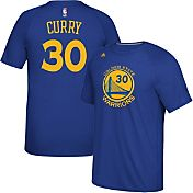 adidas Men's Golden State Warriors Steph Curry #30 climalite Royal T-Shirt