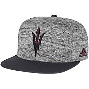 adidas Men's Arizona State Sun Devils Grey Sideline Player Snapback Adjustable Hat