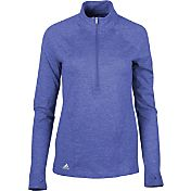 adidas Women's Advantage Heathered Half-Zip Golf Pullover