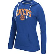 adidas Women's New York Knicks Big Arch Royal Fleece Crewdie