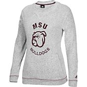 adidas Women's Mississippi State Bulldogs Grey Slouchy Crew Sweatshirt