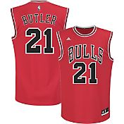 adidas Youth Chicago Bulls Jimmy Butler #21 Road Red Replica Jersey