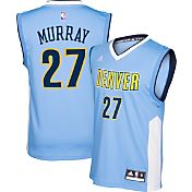 adidas Youth Denver Nuggets Jamal Murray Road Light Blue Replica Jersey