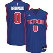 adidas Youth Detroit Pistons Andre Drummond #0 Road Royal Replica Jersey