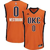 adidas Youth Oklahoma City Thunder Russell Westbrook #0 Alternate Orange Replica Jersey