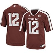 adidas Youth Texas A&M Aggies #12 Maroon Replica Football Jersey