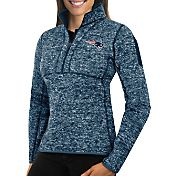 Antigua Women's New England Patriots Fortune Navy Pullover Jacket
