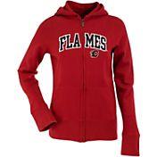 Antigua Women's Calgary Flames Dark Red Signature Full-Zip Fleece Hoodie
