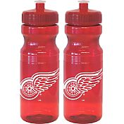 Boelter Detroit Red Wings 24oz Squeeze Water Bottle 2-Pack