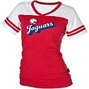 boxercraft Women's South Alabama Jaguars Red/White Powder Puff T-Shirt
