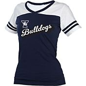 boxercraft Women's Yale Bulldogs Powder Puff Yale Blue/White T-Shirt
