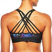 CALIA by Carrie Underwood Women's Inner Power Strappy High Neck Printed Sports Bra