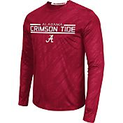 Colosseum Athletics Men's Alabama Crimson Tide Crimson Sleet Long Sleeve Performance Shirt
