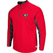 Colosseum Athletics Men's Georgia Bulldogs Red Airstream Quarter-Zip Windshirt