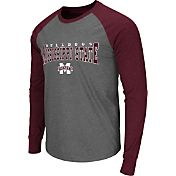 Colosseum Men's Mississippi State Bulldogs Grey Olympus Long Sleeve Shirt