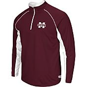 Colosseum Athletics Men's Mississippi State Bulldogs Maroon Airstream Quarter-Zip Windshirt