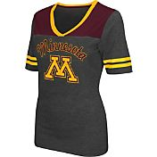 Colosseum Athletics Women's Minnesota Golden Gophers Grey Twist V-Neck T-Shirt
