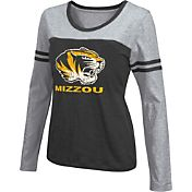 Colosseum Athletics Women's Missouri Tigers Black Leap Scoop Neck Long Sleeve Shirt