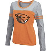 Colosseum Athletics Women's Oregon State Beavers Black Leap Scoop Neck Long Sleeve Shirt