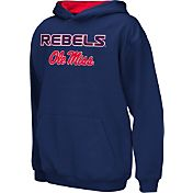 Colosseum Athletics Boys' Ole Miss Rebels Blue Poly Fleece Hoodie