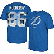 CCM Men's Tampa Bay Lightning Nikita Kucherov #86 Vintage Replica Blue Player T-Shirt
