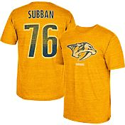 CCM Men's Nashville Predators P.K. Subban #76 Vintage Replica Gold Player T-Shirt