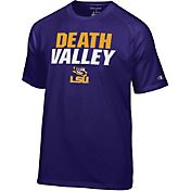 Champion Men's LSU Tigers Purple Football Slogan T-Shirt