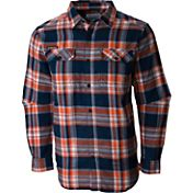 Columbia Men's Auburn Tigers Blue Plaid Flare Gun Flannel Long Sleeve Shirt