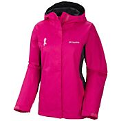 Columbia Women's Tested Tough In Pink II Rain Jacket