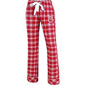 Concepts Sport Women's Indiana Hoosiers Crimson/Grey Captivate Plaid Sleep Pants