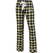 Concepts Sport Women's Oregon Ducks Black/Gold Captivate Plaid Sleep Pants