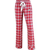 Concepts Sport Women's Arkansas Razorbacks Cardinal/Grey Captivate Plaid Sleep Pants