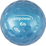 empower 6 lb Comfort Grip Medicine Ball with DVD