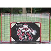 EZGoal 72' Metal Street Hockey Goal & Backstop w/ Goalie Target
