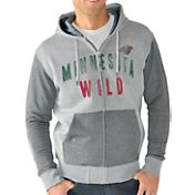 G-III Men's Minnesota Wild Grey Safety Full Zip Hoodie