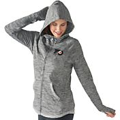 G-III 4Her Women's Philadelphia Flyers Recovery Grey Full-Zip Hoodie