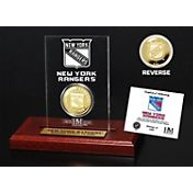 The Highland Mint New York Rangers Gold Coin Etched Acrylic