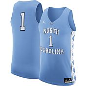 Jordan Men's North Carolina Tar Heels #1 Carolina Blue Authentic ELITE Basketball Jersey