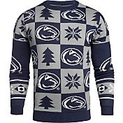 KLEW Men's Penn State Nittany Lions Blue Ugly Sweater