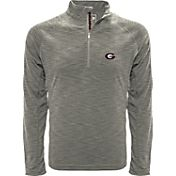 Levelwear Men's Georgia Bulldogs Grey Mobility Long Sleeve Quarter-Zip Shirt