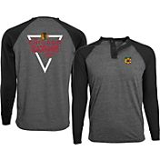 Levelwear Men's Chicago Blackhawks Charcoal Yield Henley Shirt
